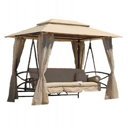 3-seater-gazebo-swing-bed-with-musquito-net-beige-color